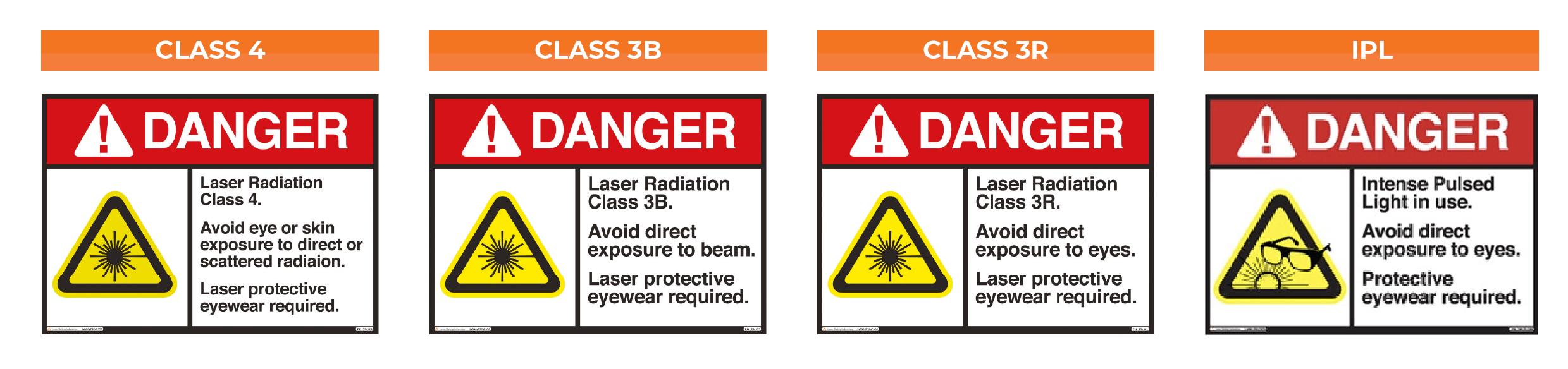 Laser Safety Sign Chart